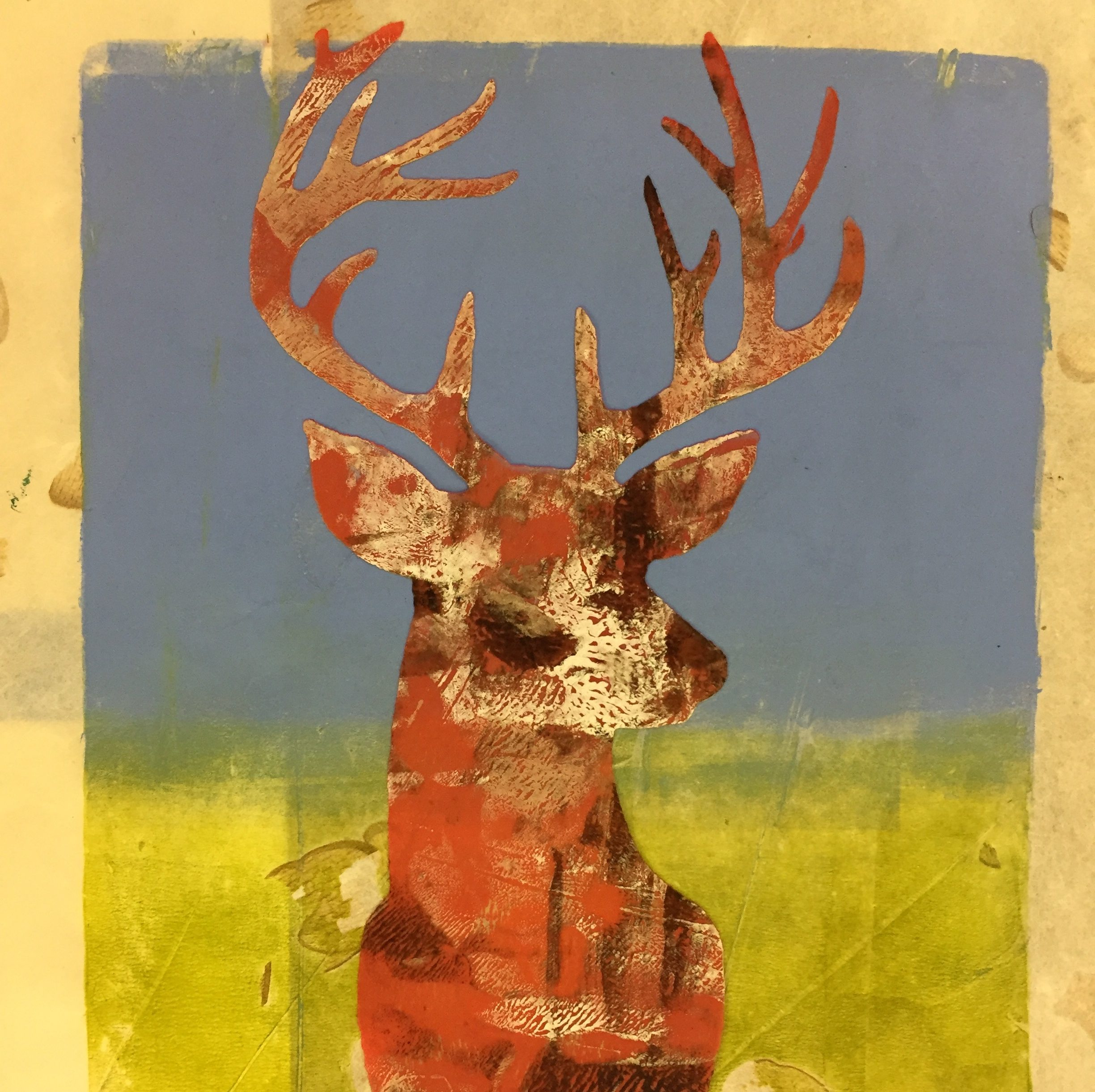 Monoprinting with OPEN paints and GELLI plates